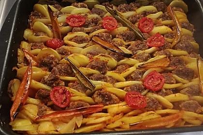 Frikadellen-Kebab aus dem Ofen 1