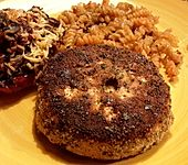 Gebratene Selleriescheibe mit Kräuterpanade