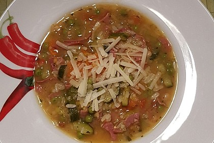 Gemüsesuppe italienische Art 13
