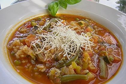 Gemüsesuppe italienische Art 3