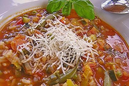 Gemüsesuppe italienische Art 4