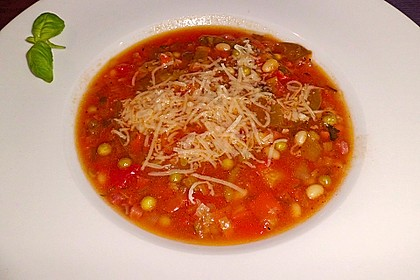 Gemüsesuppe italienische Art 11