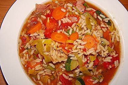 Gemüsesuppe italienische Art 9