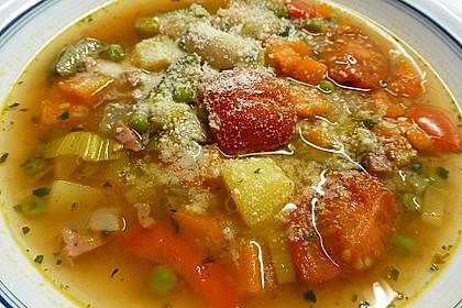 Gemüsesuppe italienische Art 6