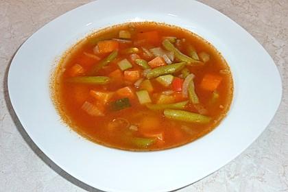 Gemüsesuppe italienische Art 1