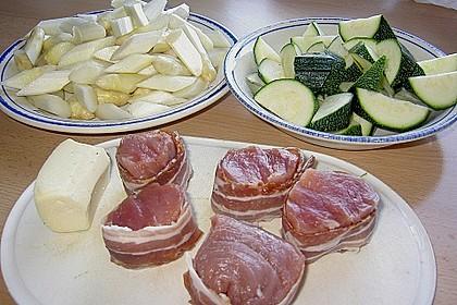 Schweinemedaillons mit Sahnegemüse 4