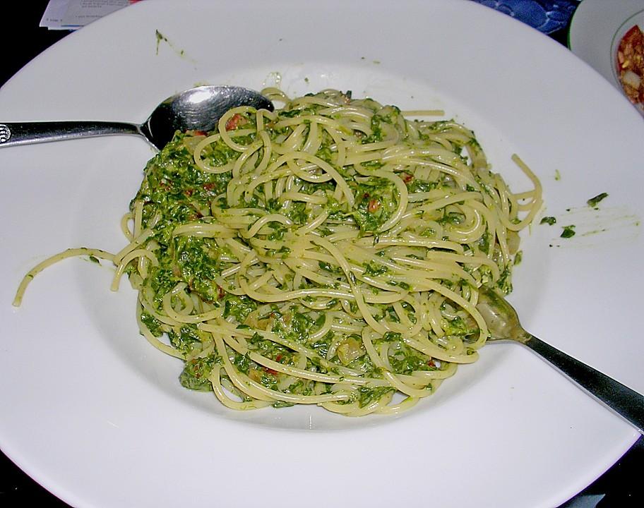 spaghetti mit spinat rezept mit bild von regina223