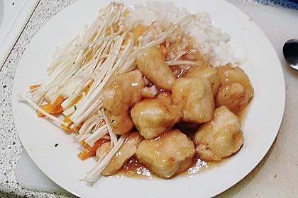 Gebackenes Hühnerfleisch mit japanischer Soße 1