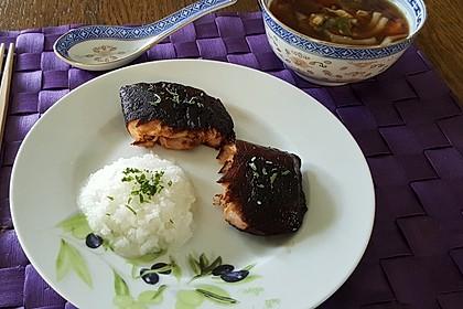 Japanischer gegrillter Lachs mit Teriyaki - Soße 35