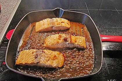 Japanischer gegrillter Lachs mit Teriyaki - Soße 20