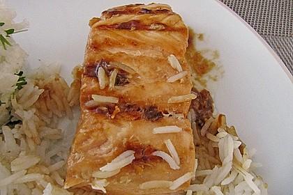 Japanischer gegrillter Lachs mit Teriyaki - Soße 21