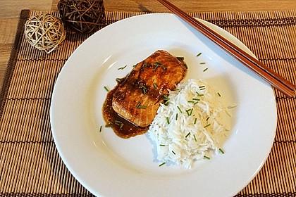 Japanischer gegrillter Lachs mit Teriyaki - Soße 9