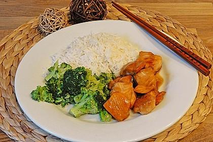 Japanischer gegrillter Lachs mit Teriyaki - Soße 13