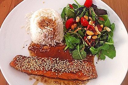 Japanischer gegrillter Lachs mit Teriyaki - Soße 15