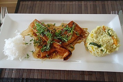 Japanischer gegrillter Lachs mit Teriyaki - Soße 7
