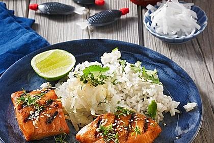 Japanischer gegrillter Lachs mit Teriyaki - Soße 1