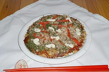 Japanische Pizza bzw. Gemüsepfannkuchen 4