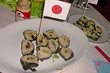 Vegetarische gerollte Sushi (Makizushi) 7