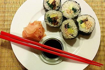 Vegetarische gerollte Sushi (Makizushi) 1