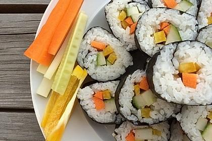 Vegetarische gerollte Sushi (Makizushi) 2