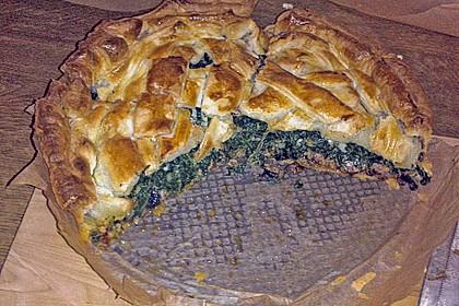 Blätterteig - Pie mit Hackfleisch - Spinat Füllung 10