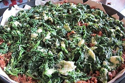 Blätterteig - Pie mit Hackfleisch - Spinat Füllung 15