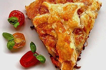 Blätterteig - Pie mit Hackfleisch - Spinat Füllung 2