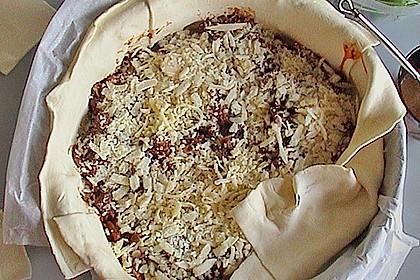 Blätterteig - Pie mit Hackfleisch - Spinat Füllung 18