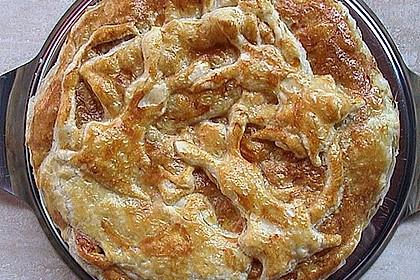 Blätterteig - Pie mit Hackfleisch - Spinat Füllung 13