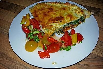 Blätterteig - Pie mit Hackfleisch - Spinat Füllung 3