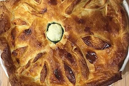 Blätterteig - Pie mit Hackfleisch - Spinat Füllung 8