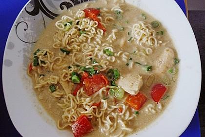 Scharfe Hühner - Nudel Suppe