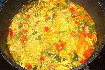 Scharfe Hühner - Nudel Suppe 1