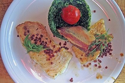 Schellfischfilet mit Kartoffel - Frisée Püree