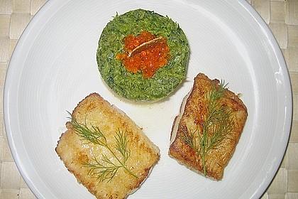 Schellfischfilet mit Kartoffel - Frisée Püree 2