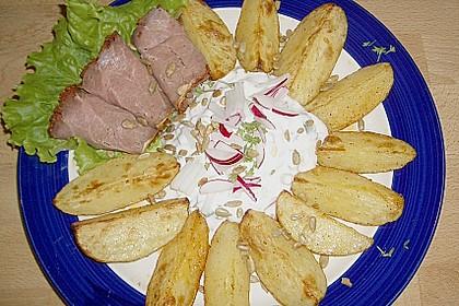 Kartoffelecken mit Quark 2