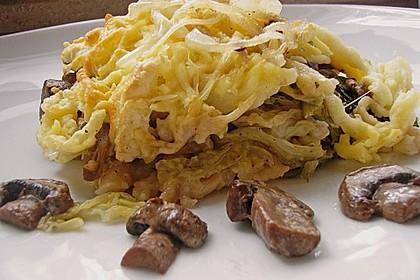 Champignon-Käse-Spätzle 9