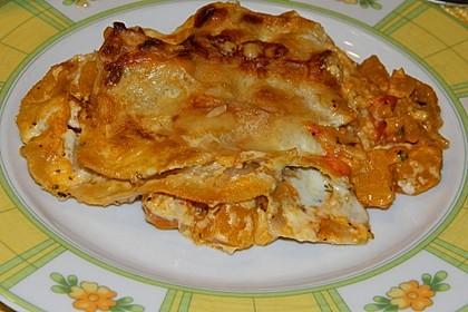 Kürbis-Lasagne mit Tomaten 10