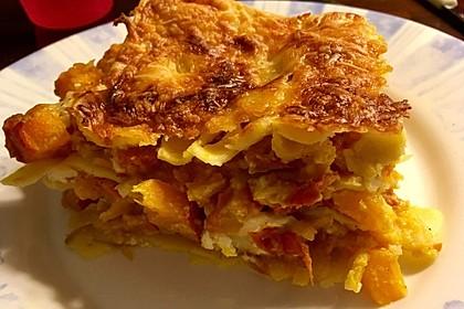 Kürbis-Lasagne mit Tomaten 11