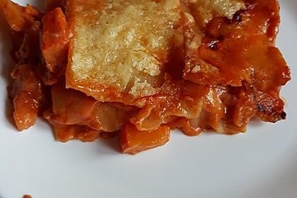Kürbis-Lasagne mit Tomaten 16