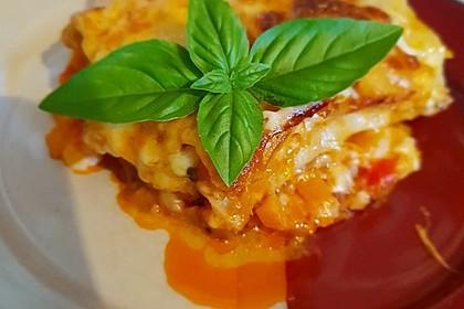 Kürbis-Lasagne mit Tomaten 2