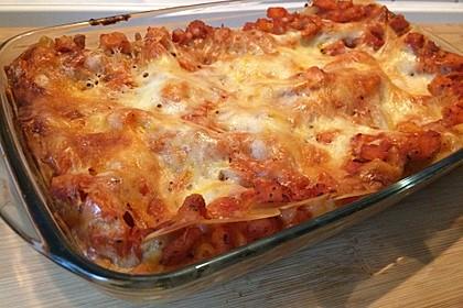 Kürbis-Lasagne mit Tomaten 3