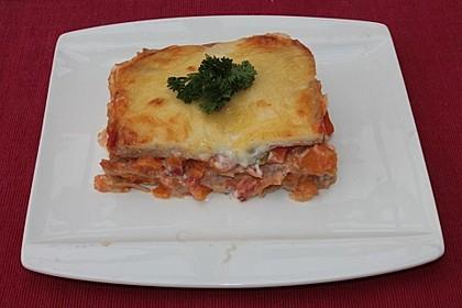 Kürbis-Lasagne mit Tomaten 1