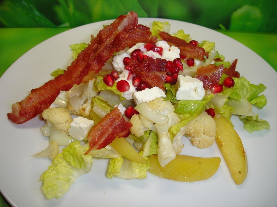 warmer kartoffel blumenkohl salat rezept mit bild. Black Bedroom Furniture Sets. Home Design Ideas