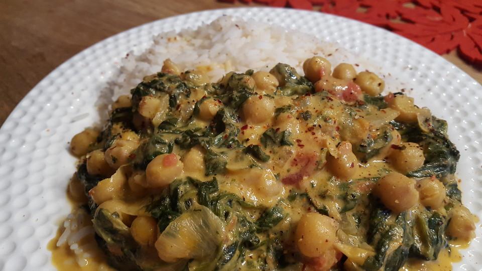 Schnelles Spinat-Kichererbsen-Gericht von agiagi2 | Chefkoch.de