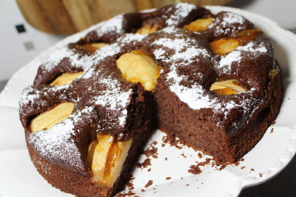 apfelkuchen mit kakao rezept mit bild von meinerezepte aynur. Black Bedroom Furniture Sets. Home Design Ideas