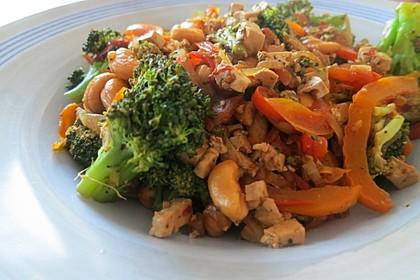 Brokkoli-Wok mit Cashews und Tofu 1