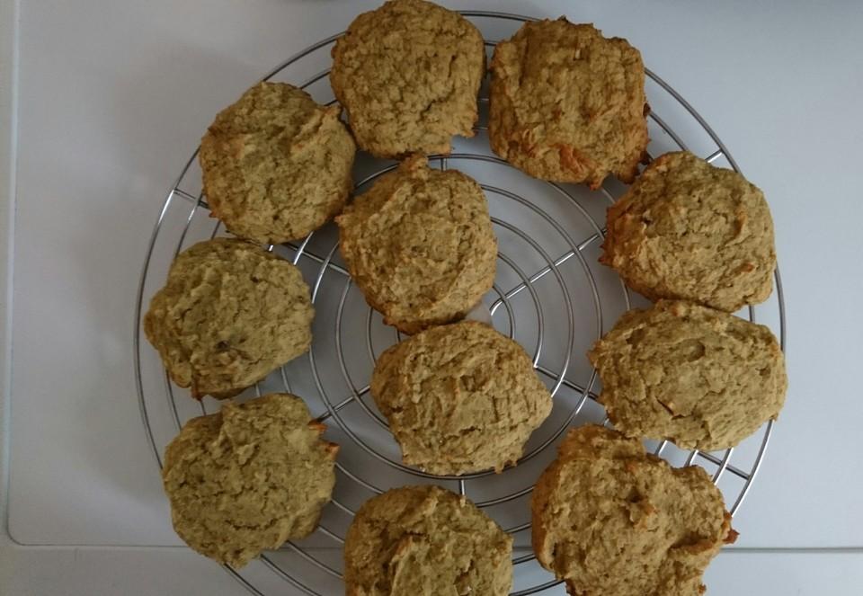 vegane cookies mit kokosmehl und wei er reismilchschokolade rezept mit bild. Black Bedroom Furniture Sets. Home Design Ideas