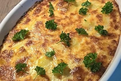 Kürbis-Kartoffel-Spinat-Lachs-Auflauf