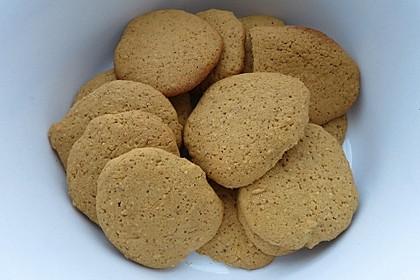 Mandel-Plätzchen mit Zuckerrohrmelasse